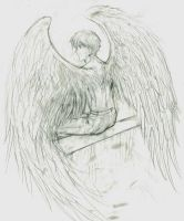 Old pic - Winged Heero scrap by Lizeth