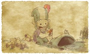 Thomas the Leap Year sketching Elf 8 by D-Gee