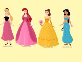 Disney Princesses: Part 2 by butterflycystal