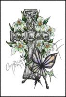 Cross, Orchids and Butterflies by Avez-F