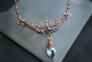Crystal Necklace II by twistedjewelry