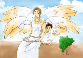 SP: Gabriel and Castiel by yuminica