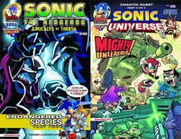 Sonic the Hedgehog #246 and Sonic Universe #49 by RocketSonic