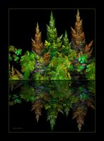 reflection of the forest-fractal-Apo by sonafoitova