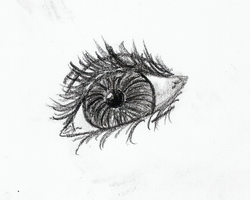 Charcoal Eye by KittyGoGo