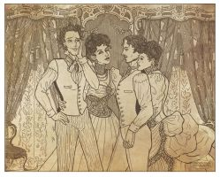 Two Victorian Couples by LaTaupinette