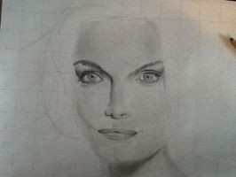 Michelle Pfeiffer Portrait (Work in Progress) by Art-O-mania