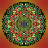 Mandala 14 collaboration with Myronavitch by Mandala-Jim