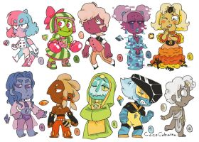 600 Points Chibi Gem Adopts! (Closed) by CocoCabanna