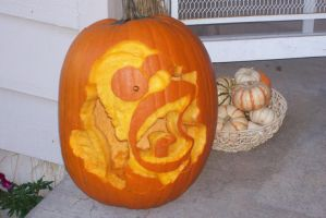 Homer Simpson Pumpkin Carving by cjgraphix