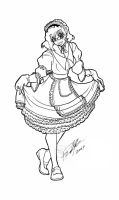 Curtsying Maid inks by Bee-chan