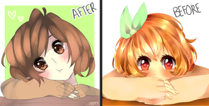 Thinking of you / Before and After by Happy-Tan