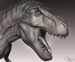 T-Rex 3D Model WIP 3 by FoxHound1984