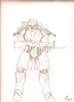 Assault Armor Sketch by GiftedLion