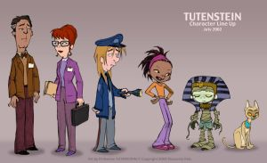 Tutenstein: Main Character Line Up July 2002 by filbarlow