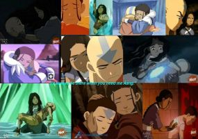Katara will be there for Aang by KukiSanban14
