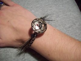 Herringbone horsehair bracelet by BloodStainedSilk