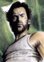 Hugh Jackman mini-portrait by whu-wei