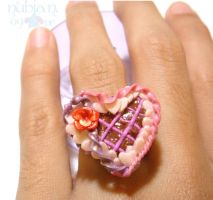 Valentin's Cake ring by colourful-blossom