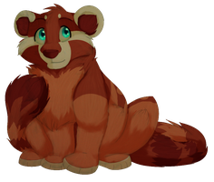 Dots - The Red Panda by Iva-Inkling
