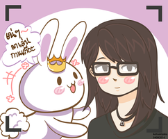 Rabbity and ME ^^ by kotsukiyuka
