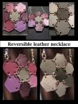 Reversible Leather necklace by maskedzone