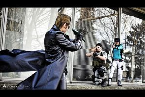 Wesker,  Chris and Jill BSAA Resident evil 5 by DavidCosplay