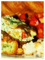 Omelette Au Fromage by rococoearl