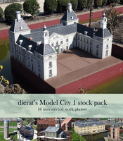 Model City 1 stock pack by dierat-stock