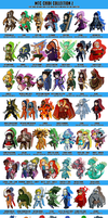 Commission: MTC Chibi Collection 2 - COMPLETE by MTC-Studio