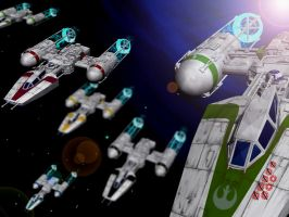 Y-Wing Squadron by Brian-Snook