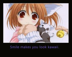 Smile to look kawaii by agarest-of-war