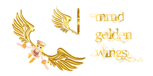 mmd golden wings by Tehrainbowllama