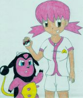 Whitney and Miltank by sketchinnegro