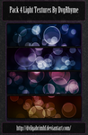 Pack 4 light textures  bokeh by Dvg by Dvilgabrimhf