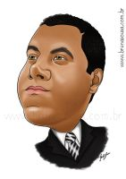Caricature: Claudio Gabilan by brunasousa