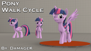 [SFM Ponies / DL] Pony Walk Cycle DMX by DamageK