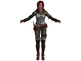 TW2 Triss Merigold - default costume (UPDATED) by zareef