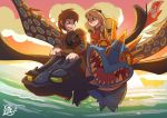 Hiccup X Astrid by LinFongArt