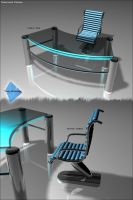 Desk and chair design by tankbiuk