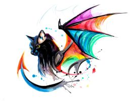 Rainbow Kitty Dragon by Lucky978