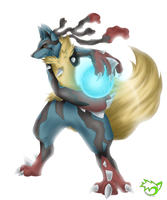 .: Mega Lucario :. by PinselTheExperiment