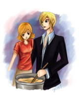 Sanji and Nami by AStudyInScarlet