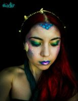 Mermaid inspired make-up by cromatic-blood