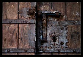 Porto de Mos Castle Old Door by FilipaGrilo