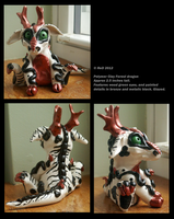 SOLD: Polymer White Forest Dragon by Canis-Angst