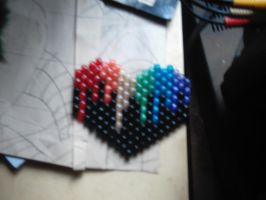 rainbow heart black by DINOCATCREATIONS