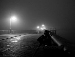 A Midnight Walk By The Pier by LenseMan