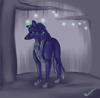 Deep inside the glowing forest by Agowilt