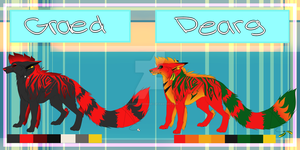 Dearg and Graed ref 2014 (READ DESCRIPTION) by redandblackfennec